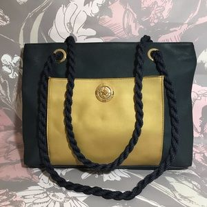 Rodo Vintage Coated Faux Leather Tote Shoulder Bag
